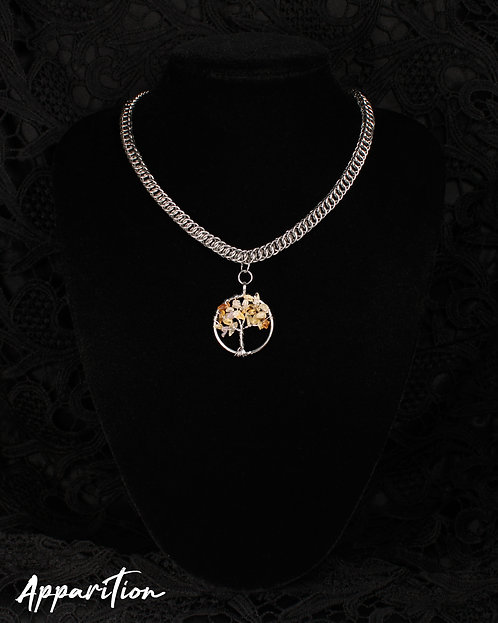The Tree of Ahura Chainmaille Necklace