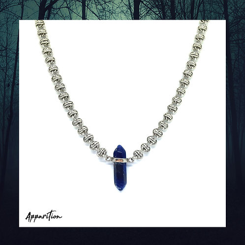 Sodalite Crystal Chainmaille Necklace