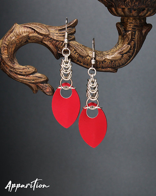 Blood Queen Scalemaille Earrings