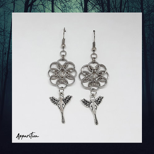 Angelic Aura Chainmaille Earrings