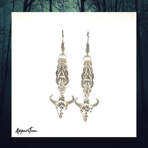 Horned Octavus Chainmaille Earrings