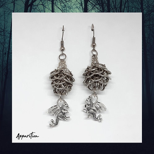 Draconian Spirit Chainmaille Earrings