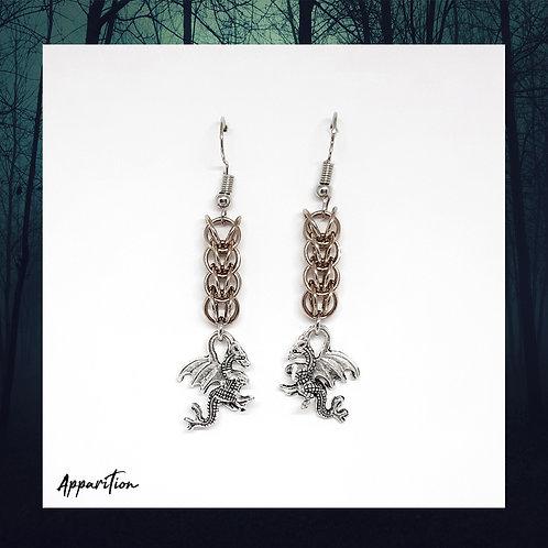 Níðhöggr Chainmaille Earrings