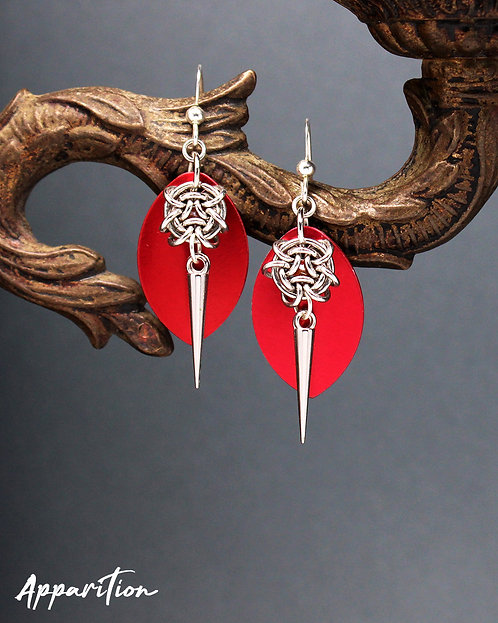 Snake Eyes Scalemaille Earrings