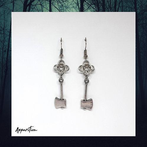 Hel Viking Chainmaille Earrings