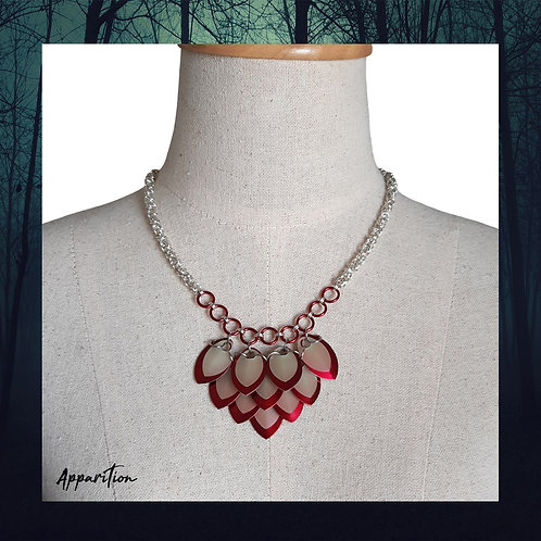 Visions of Red Scalemaille Necklace