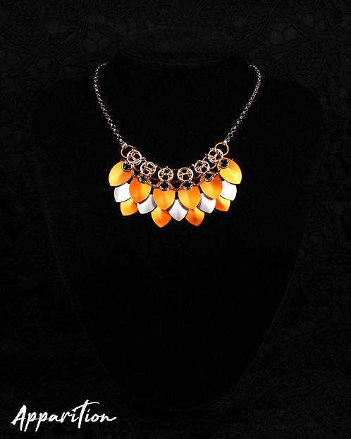Brigid Orange Scalemaille Necklace