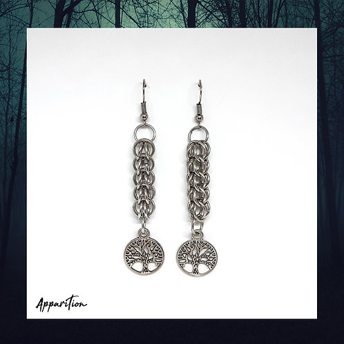 Takara Tree Of Life Chainmaille Earrings