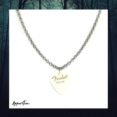 The White Bard Plectrum Silver Necklace