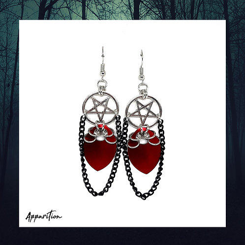 The Blood Countess Scalemaille Earrings