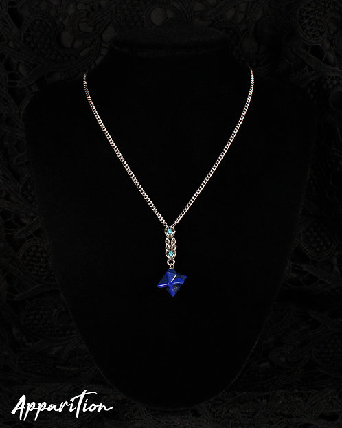 Lapis Lazuli Merkaba Compass Chainmaille Necklace