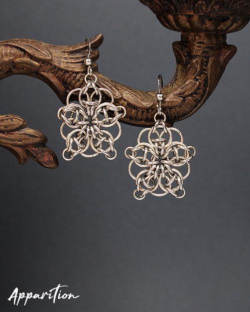 Celtic Flower Chainmaille Earrings
