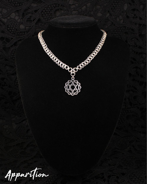 Heart Chakra Chainmaille Necklace