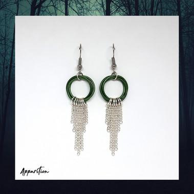 Green Charm Me Earrings