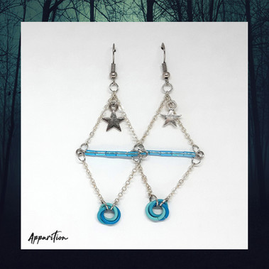 Diamond of the Sky Chainmaille Earrings