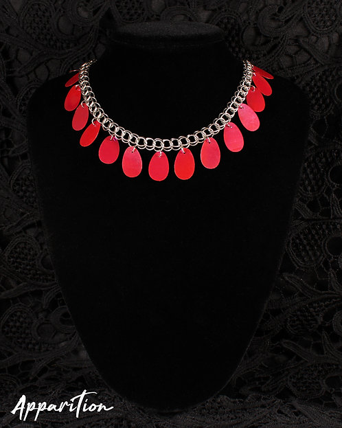 Pink Fringe Chainmaille Necklace