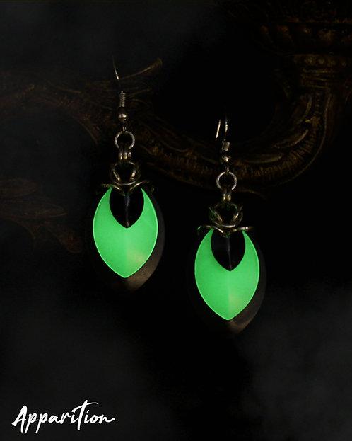 Gemini Black Scalemaille Earrings