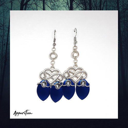 Royal Heart Scalemaille Earrings