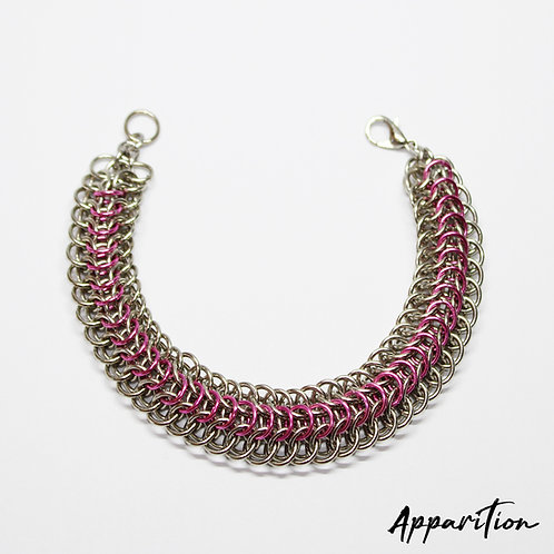 Pink Dragon Chainmaille Bracelet