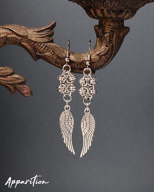 Jueru Wing Chainmaille Earrings