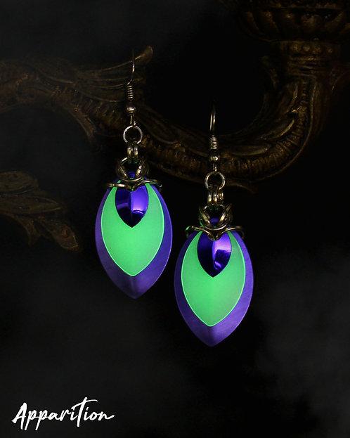 Gemini Purple Scalemaille Earrings