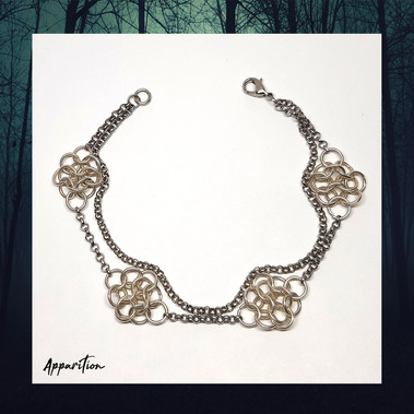 Chainmaille Clusters & Chain Bracelet