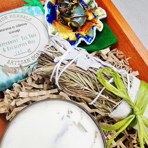 Green Spa Treatment Pine Box