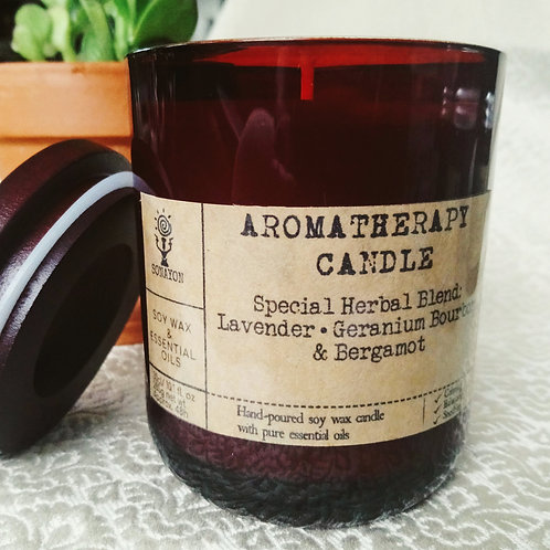 Large Deluxe Aromatherapy Candle no1