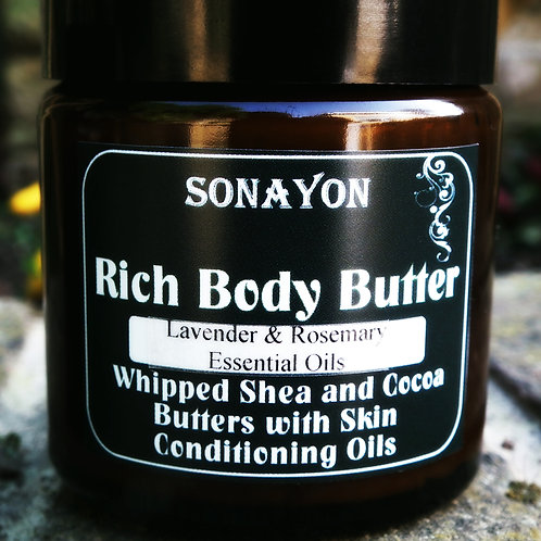 Rich Whipped Body Butter (Lavender & Rosemary)