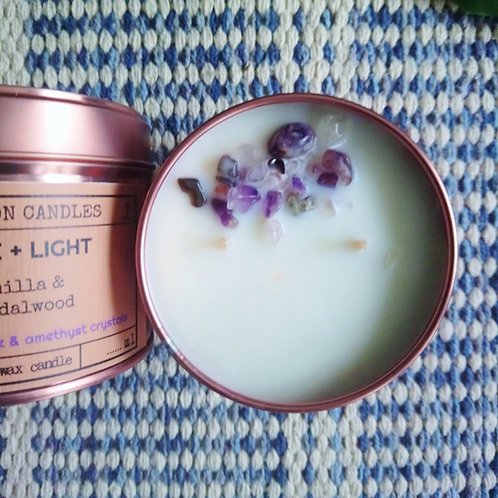 Rose Gold Tin Soy Wax Candle (Love & Light)