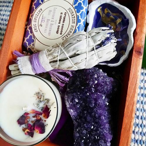 Purple Spa Treatment Pine Box