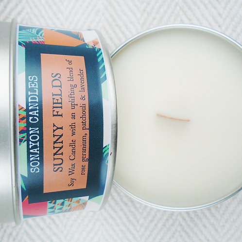 Plant Wax Candle (Sunny Fields)