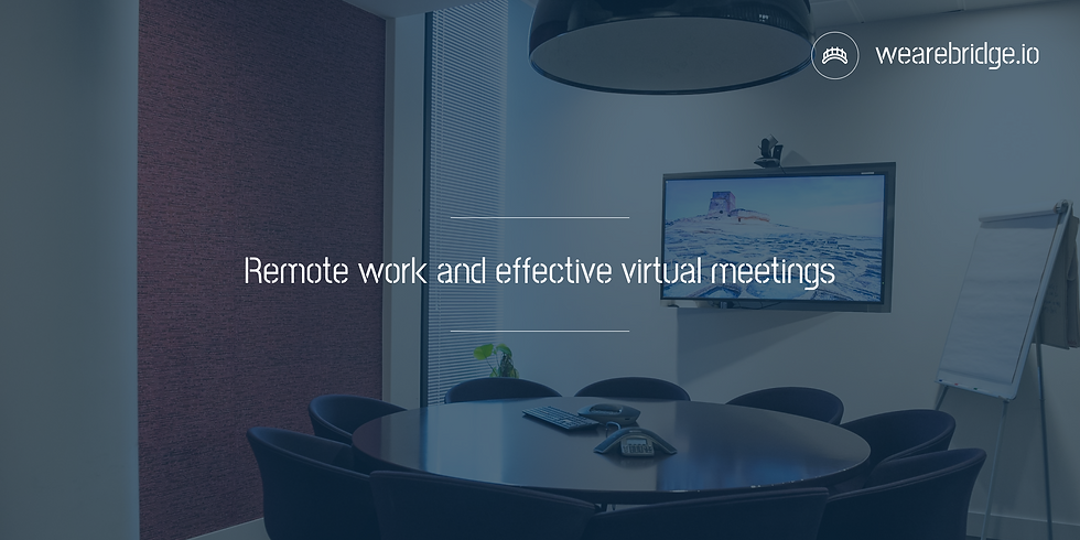 Remote work and effective virtual meetings