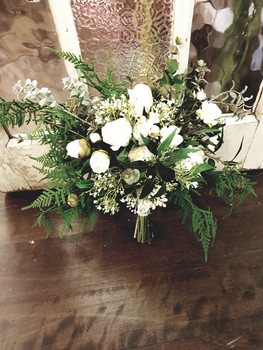 BOUQUET White Camelias & Roses with Baby