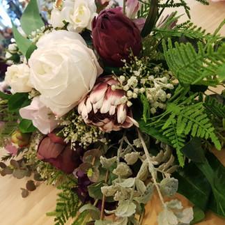 BOUQUET York Roses, Proteas, Peonies & Eucalyptus