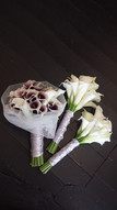 Anna's Purple/White Calla Lilies with Tulle