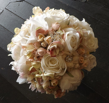 Roses, Hydrangea  Diamantes, Pearls  & Crystals