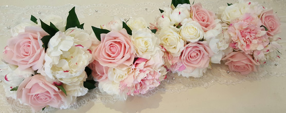 Roses & Buds  Loaded with Lace, Ribbons & Pearls
