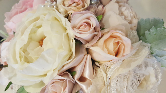 Roses, Peonies,Lace, Pearls & Crystals