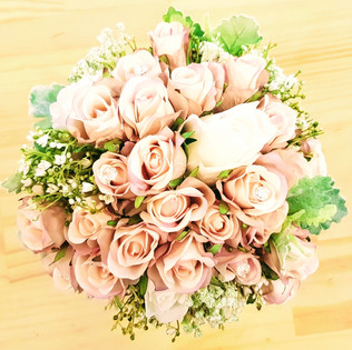 Rosebuds, Baby's Breath & Dusty Miller