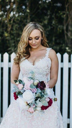 Ashleigh's Dusty Pink, Burgandy & Ivory Garden Picked Bouquets