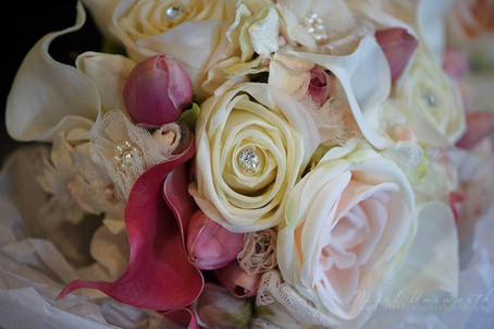 Patricia's Roses, Callas, Lace & Bling
