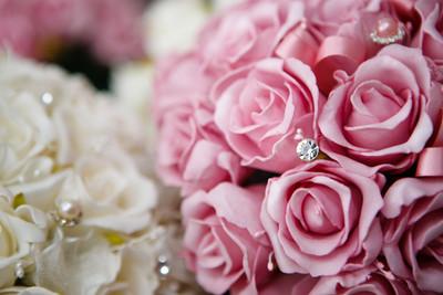 Stephanie's Foam Rosebuds with Diamantes