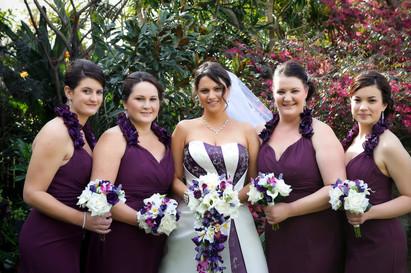 Jodi's Purple, Majenta & White Orchid Mix