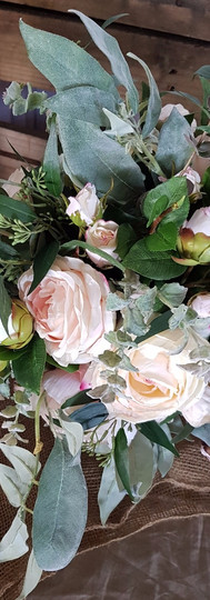 Roses, Camellias& lots of Eucalyptus Leaves