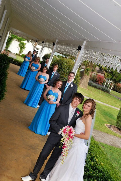 Alyssa's Blue theme with Pink & White Orchids