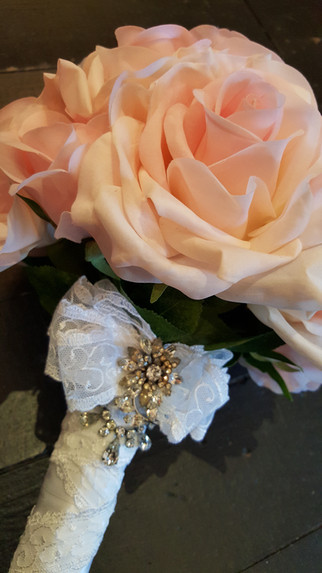 Roses, Lace & Brooch