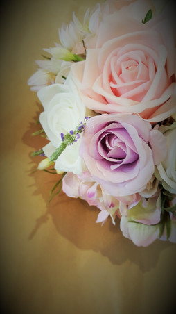 Roses with a tad of lavender