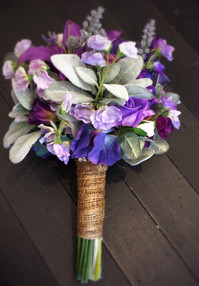 Mix of Purples and Greenery