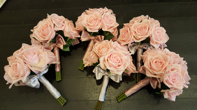 Pink Real Touch Roses
